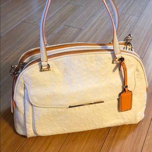 Coach White Ostrich Leather bag